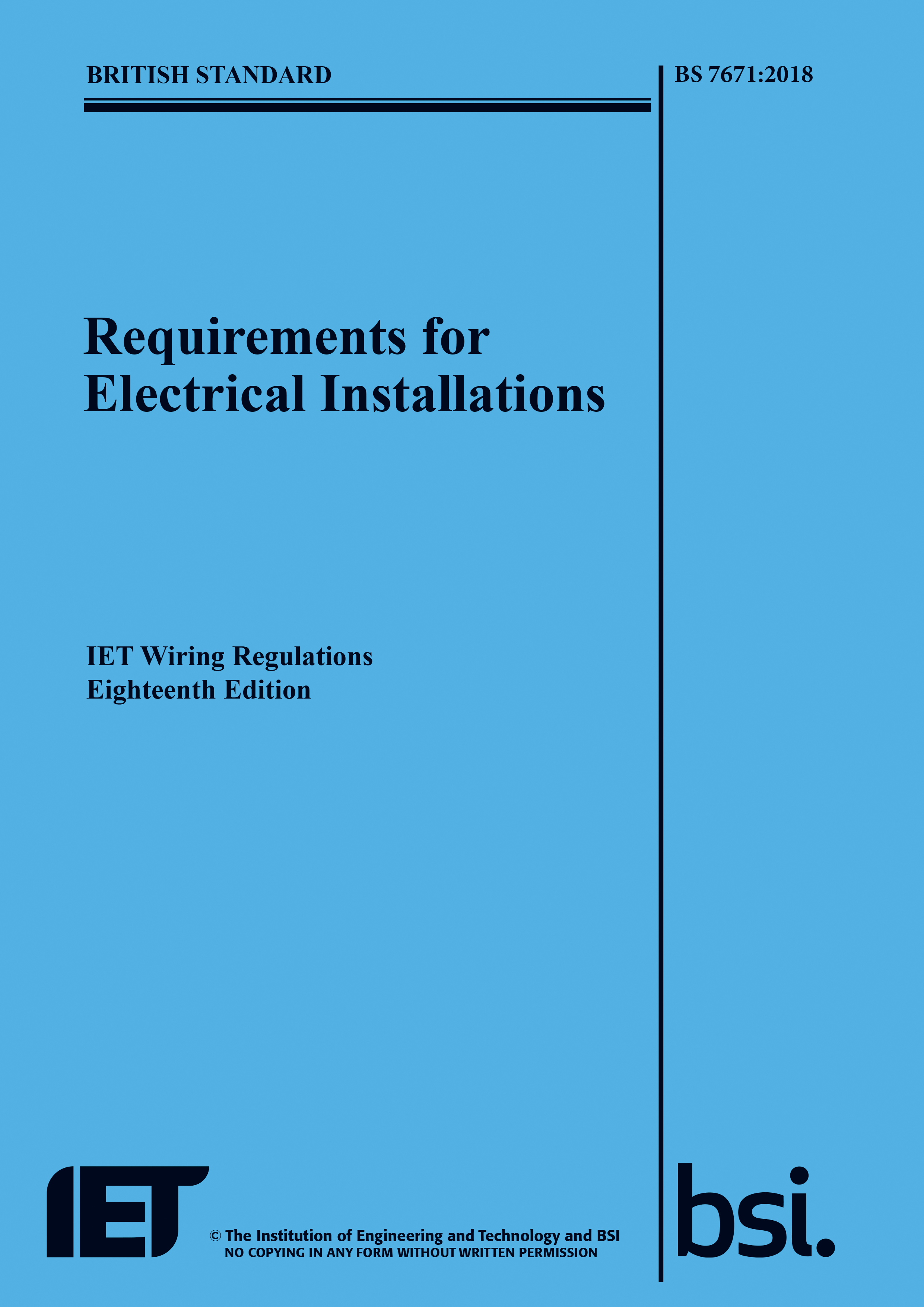 the 18th edition bs 7671 2018 is launched iet electrical rh electrical theiet org