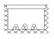 Line drawing of cables laid in a trough